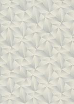 Erismann Spotlight 10106-31 Geometrikus Grafikus Expresszív háromszögek mintája 3D krémszürke szürke ezüst tapéta