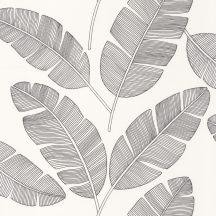 Caselio Moonlight 101099007  Natur trópusi stilizált banánlevelek fekete fehér tapéta