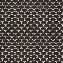 Moonlight 101139025 Geometrikus mintakialakítás fekete fehér fémes csillogó arany