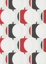 Erismann Novara 10118-06 Grafikus Retro Körök fehér piros szürke fekete tapéta