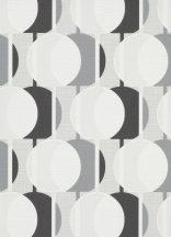 Erismann Novara 10118-34 Grafikus Retro Körök fehér szürke fekete tapéta