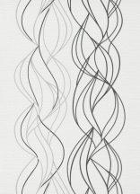 Erismann Novara 10120-34  Grafikus Hullámminta fehér szürke fekete tapéta