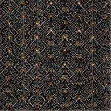 Caselio Moonlight 101232099 Stílusos geometriai motívum fekete arany tapéta