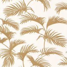 Moonlight 101250020 Natur trópusi pálmaliget pálmalevelek fehér arany tapéta