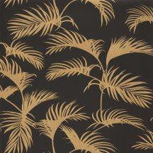 Moonlight 101252090 Natur trópusi pálmaliget pálmalevelek fekete arany tapéta