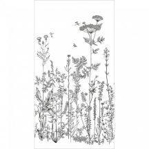 Caselio Moonlight 101319104  Natur mezei virágok növények fehér fekete falpanel