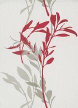 Erismann Walls we love 10138-06 Virágos bájos virágpanel fehér élénk piros szürke tapéta