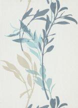Erismann Walls we love 10138-08 Virágos bájos virágpanel fehér vízkék kék árnyalatok bézs tapéta