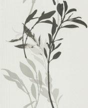 Erismann Walls we love 10138-10 Virágos bájos virágpanel fehér szürke fekete tapéta