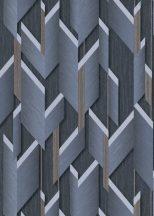 Erismann Fashion for Walls 2 by GMK 10145-08 Design Ipari formatervezés 3D szálcsiszolt nemes fényű felület acélkék szürke barna tapéta