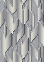 Erismann Fashion for Walls 2 by GMK 10145-10 Design Ipari formatervezés 3D szálcsiszolt nemes fényű felület szürke/acélszürke fehérezüst tapéta