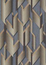 Erismann Fashion for Walls 2 by GMK 10145-30 Design Ipari formatervezés 3D szálcsiszolt nemes fényű felület acélkék bézsarany/arany tapéta