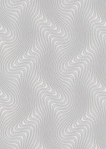 Erismann Fashion for Walls 2 by GMK 10146-43 Design Örvénylő hullámminta 3D világoskék ezüst fehérezüst fémes csillogó hatás tapéta