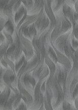 Erismann ELLE Decoration 10151-47 Grafikus Stilizált levelek hullámokba rejtve szürke sötétszürke ezüst csillogó mintarészletek tapéta