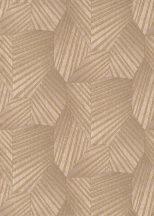 Erismann ELLE Decoration 10152-05 Geometrikus grafikus 3D minta bézs rózsaszín arany csillogó mintarészletek tapéta