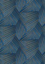 Erismann ELLE Decoration 10152-08 Geometrikus grafikus 3D minta kék arany csillogó mintarészletek tapéta