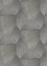 Erismann ELLE Decoration 10152-10 Geometrikus grafikus 3D minta szürke ezüst arany csillogó mintarészletek tapéta