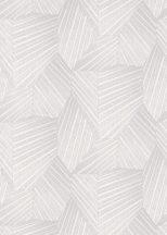 Erismann ELLE Decoration 10152-31 Geometrikus grafikus 3D minta világosszürke fehér ezüst csillogó mintarészletek tapéta