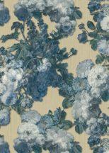 Erismann ELLE Decoration 10153-02 Natur virágözön barokk stílusú akvarell rózsák fehér bézs zöld kék csillogó mintarészletek tapéta