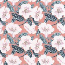 Caselio The Place to Be(d) 101794060 DING DING DONG Natur virágálom barack/lazacszín fehér sötétszürke rózsaszín arany tapéta