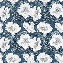 Caselio The Place to Be(d) 101796166 DING DING DONG Natur virágálom kék fehér szürke arany tapéta