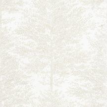 Caselio The Place to Be(d) 101800021 COSY NEST Natur fák mintázata - hangulatos fészek íriszfehér bézsarany tapéta