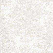 Caselio La Foret/The Place to Be(d) 101800021 COSY NEST Natur fák mintázata - hangulatos fészek íriszfehér bézsarany tapéta