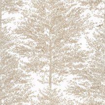 Caselio The Place to Be(d) 101801024 COSY NEST Natur fák mintázata - hangulatos fészek fehér arany tapéta