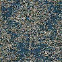 Caselio The Place to Be(d) 101806127 COSY NEST Natur fák mintázata - hangulatos fészek petrolkék arany tapéta