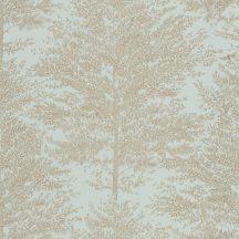 Caselio The Place to Be(d) 101807028 COSY NEST Natur fák mintázata - hangulatos fészekhalvány mandulazöld arany tapéta