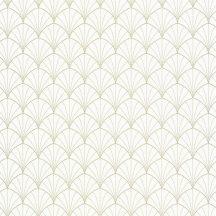 "Caselio The Place to Be(d) 101820026 STARDUST Art-deco retro ""csillagpor"" fehér arany tapéta"
