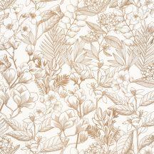 Casadeco Flower Power 101852010  MAY Csodás virágdekor hónapról hónapra Május Réti füvek virágok krémfehér arany tapéta