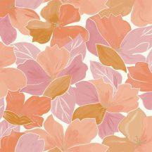 Caselio Flower Power 101884032 AUGUST  Csodás virágdekor hónapról hónapra Augusztus Virágoázis fehér korall pink arany tapéta