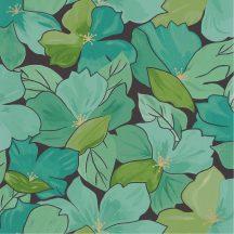 Casadeco Flower Power 101887124  AUGUST  Csodás virágdekor hónapról hónapra Augusztus Virágoázis fekete zöldeskék smaragd arany tapéta