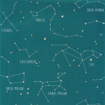 Caselio Our Planet 101916003 CONSTELLATIONS Gyerekszobai Csillagképek petrol sárga fehér tapéta