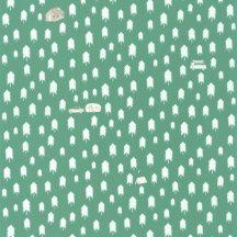 Caselio Our Planet 101977134 SUMMER CAMP Gyerekszobai Nyári tábor a fenyőerdőben vízzöld/szürkészöld bézs fehér tapéta
