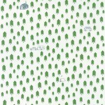 Caselio Our Planet 101977417 SUMMER CAMP Gyerekszobai Nyári tábor a fenyőerdőben fehér khakizöld éjkék tapéta