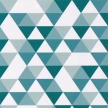 Caselio Our Planet 102006011 DIAMOND PLANET Gyerekszobai Változatos háromszögek fehér kék petrol vízkék tapéta