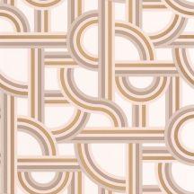 Casadeco Labyrinth 102121020 IMPASS Geometrikus Mindenhova és sehova! zsákutcábó torkolló grafikus utak fehér bézs barna arany tapéta