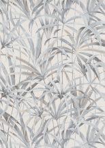 Erismann Code Nature 10213-02 Natur Botanikus levélmintázat krémfehér szürke szürkésbézs tapéta