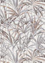 Erismann Code Nature 10213-10 Natur Botanikus levélmintázat krémfehér bézs barna szürke tapéta