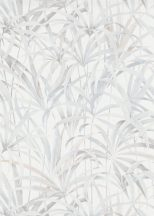 Erismann Code Nature 10213-14 Natur Botanikus levélmintázat krémfehér krémszürke szürke árnyalatok tapéta