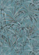 Erismann Code Nature 10213-18 Natur Botanikus levélmintázat türkizkék szürke ezüst antracit barna tapéta