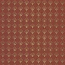 Caselio Labyrinth 102134045 PATCH Geometrikus grafikus szimmetrikus négyzetminta, 2D-3D játék terrakotta rézszín tapéta
