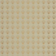 Caselio Labyrinth 102137025 PATCH Geometrikus grafikus szimmetrikus négyzetminta, 2D-3D játék mandulazöld arany tapéta