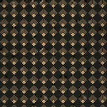 Casadeco Labyrinth 102139023 PATCH Geometrikus grafikus szimmetrikus négyzetminta, 2D-3D játék fekete arany tapéta