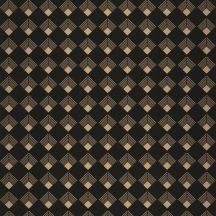 Caselio Labyrinth 102139023 PATCH Geometrikus grafikus szimmetrikus négyzetminta, 2D-3D játék fekete arany tapéta