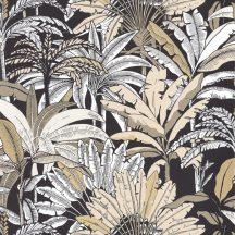 Caselio Escapade 102301957 Evasion Trópusi pálmafák fehér bézs fekete arany tapéta