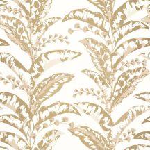 Caselio Escapade 102331235 Epopee Botanikus megejtő szépségű trópusi virágfűzér krémfehér bézs arany tapéta