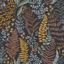 Caselio La Foret 102922974 WOODLAND Natur Botanikus realisztikus növényi (levelek) ábrázolás fekete okkersárga szines tapéta